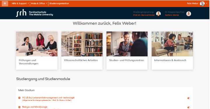 Slide Virtueller E-Campus: Das Campusleben an der Mobile University